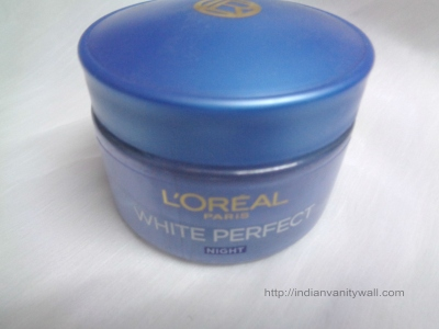 loreal paris white perfect night cream