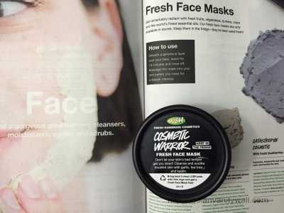 lush cosmetic warrior fresh face mask