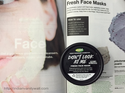 lush dont look at me fresh face mask