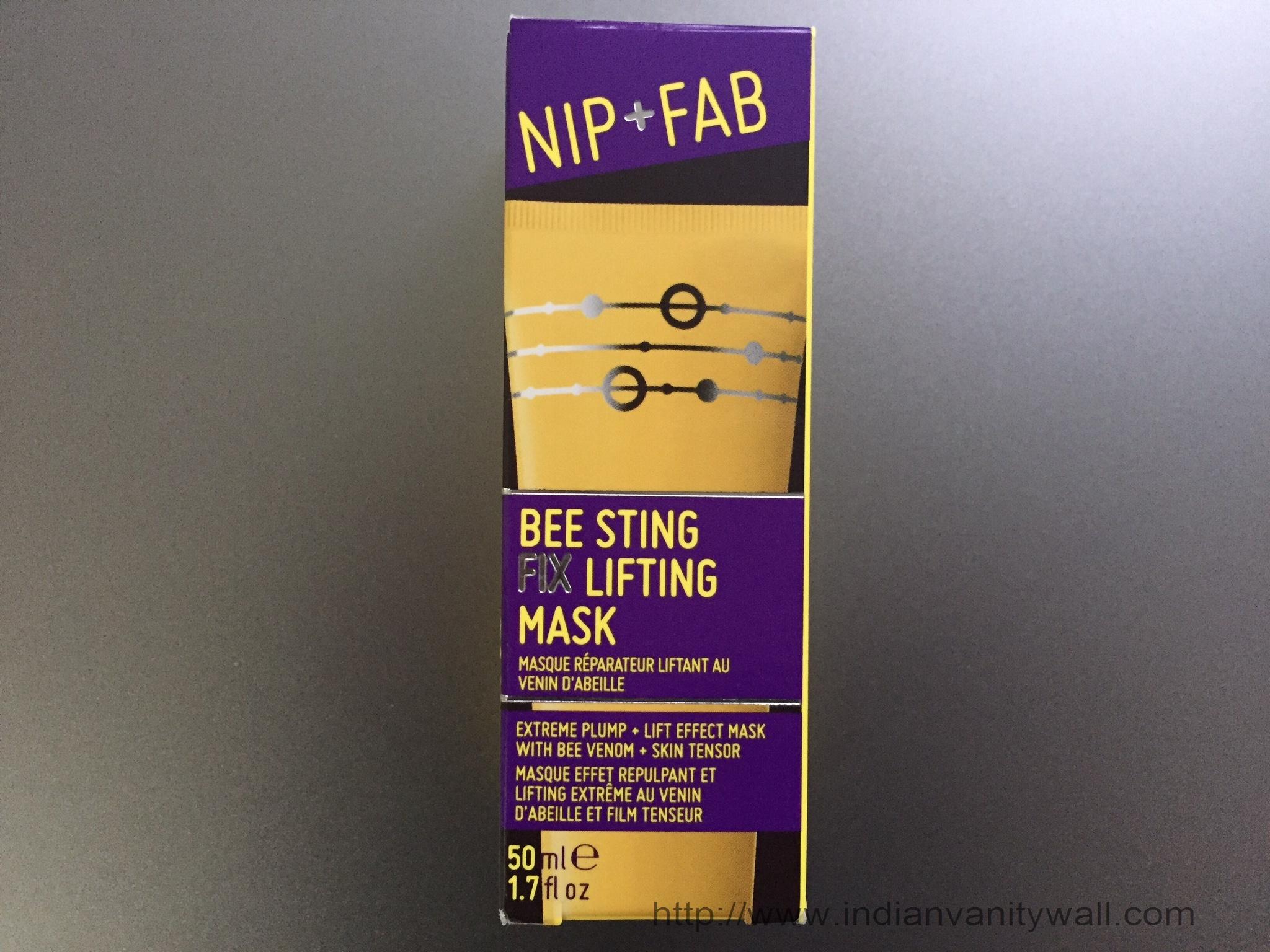 nip and fab bee sting fix lifting mask