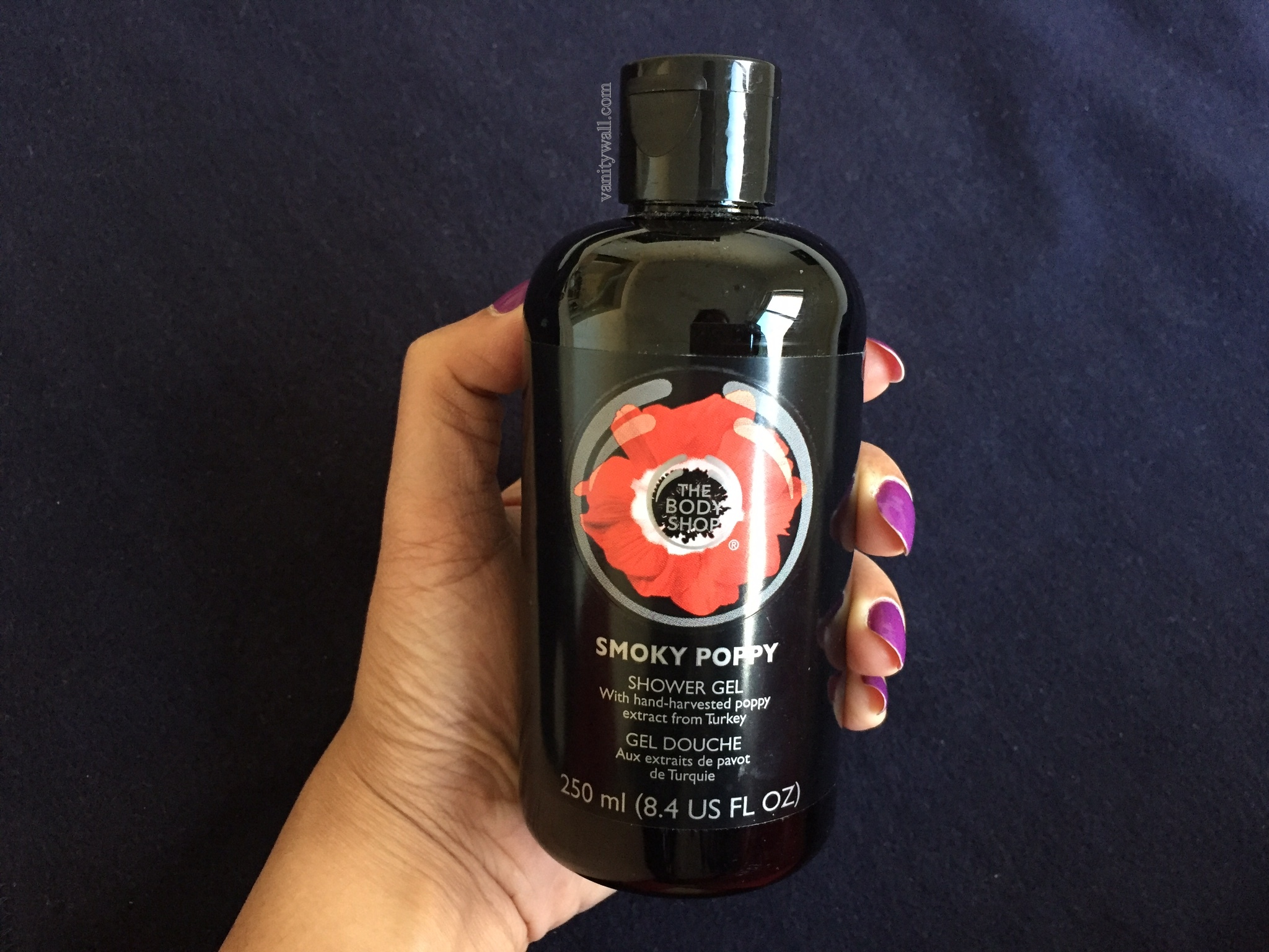 the body shop smoky poppy shower gel