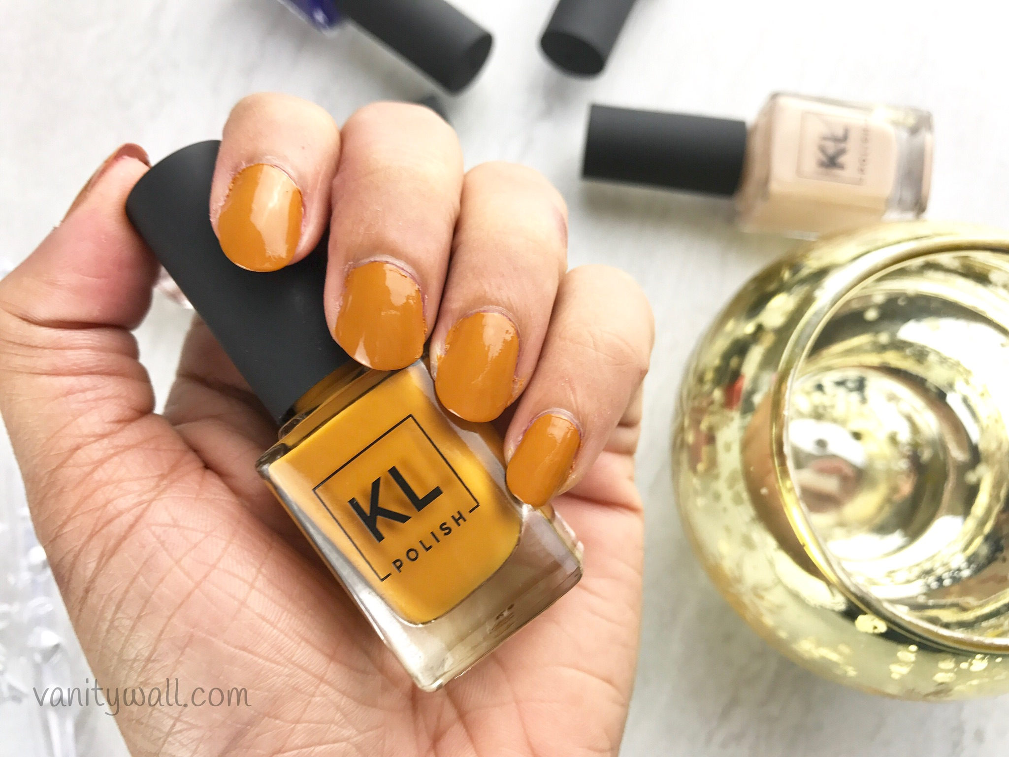 KL Polish Review & Nail Swatches - Zoey, Caramello, Brick Sidewalk ...